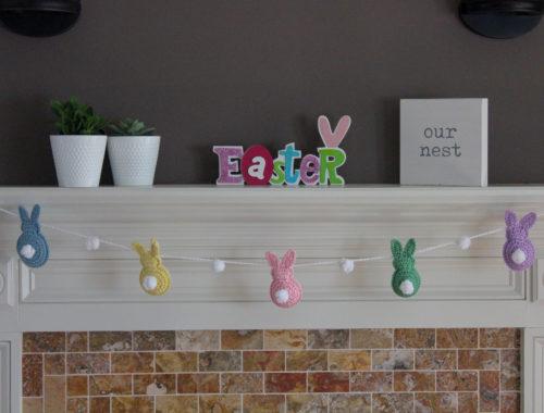 Easy Crochet Easter Bunny Garland Spring Decoration